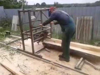 как из бензопилы сделать пилораму