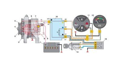 как подключить генератор на камазе