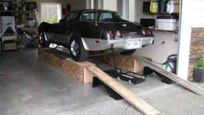 как установить подъемник в гараже