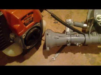 как сделать из триммера лодочный мотор
