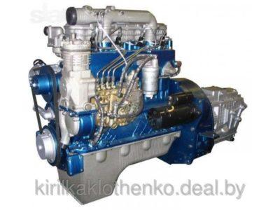 какой двигатель установлен на тракторе