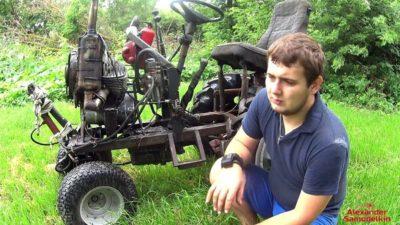 как поставить на муравей двигатель от мотоблока