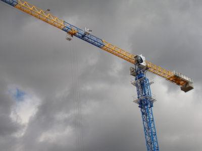 как поднимают башенный кран